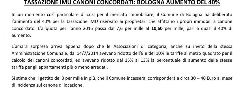 Aumento del 40% dell'imu a bologna